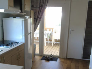 Mobil-home cuisine - Camping Le Merval